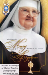 Mother Angelica Prayer Card